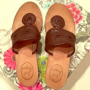 🌟Jack Rogers Brown Leather Sandals